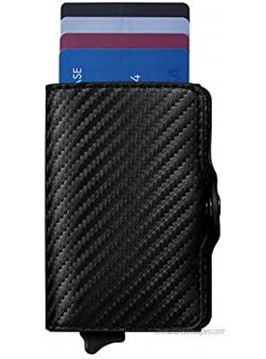 Mankoda Carbon Fiber RFID Blocking Wallet Credit Card Holder Pop Up Slim Money Clip Card Case Smart Minimalist Wallet for Men