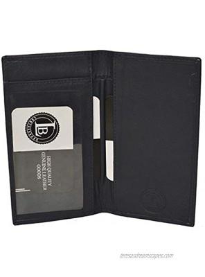 Basic Leather Checkbook Cover Dark Blue