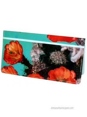 Cactus Flower Checkbook Cover
