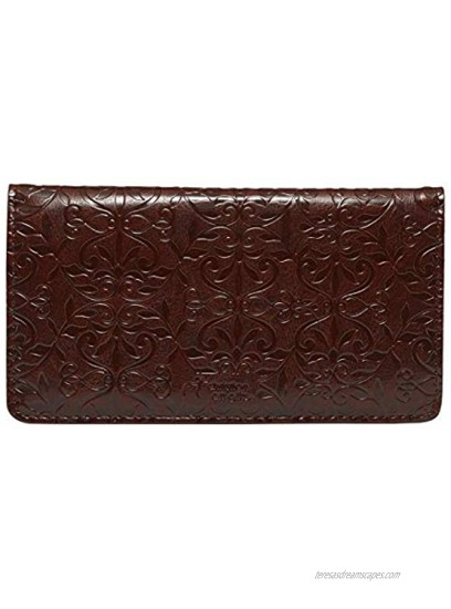 """Checkbook Cover for Women & Men """"Amazing Grace"""" Christian Brown Wallet Faux Leather Christian Checkbook Cover for Duplicate Checks & Credit Cards"""