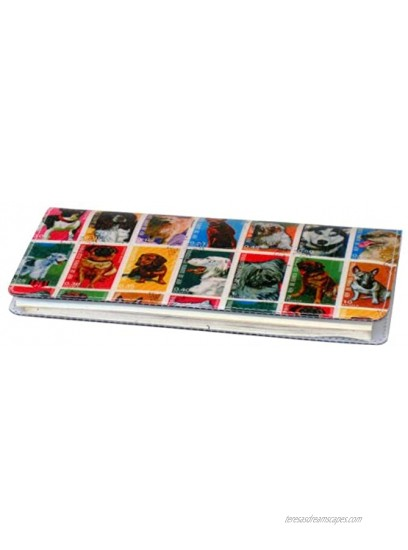 Dog Stamps Checkbook Cover