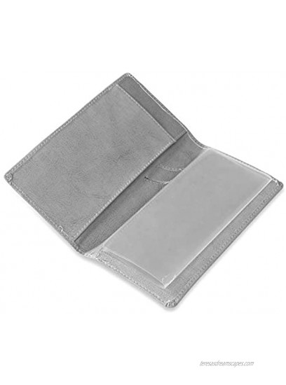 Leather Checkbook Cover Holder with Free Divider Right Handed with Middle Pen Design Checkbook Cover Case for Women Men