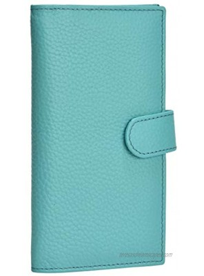 Leather Checkbook Cover RFID Wallets For Women Duplicate Check Card Pen Holder