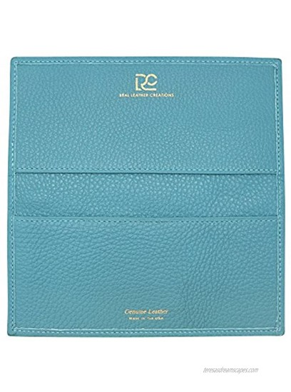 Made in the USA Genuine Colorado Leather Collection Checkbook Cover – American Factory Direct Real Leather Creations