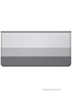 Stylish Gray Thick Stripe Design Checkbook Cover