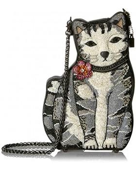 Mary Frances 9 Lives Beaded Cat Crossbody Handbag Multi