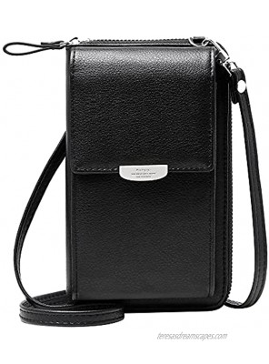 OIDERY Small Crossbody Phone Bags Cellphone Wallet Purse for Women with Credit Card Slots