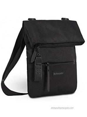 Sherpani Pica Nylon Crossbody Purse Mini Crossbody Bag Fashion Shoulder Bag Lightweight Cross Body Bag Daily Side Bag Small Purses for Women RFID Protection Raven