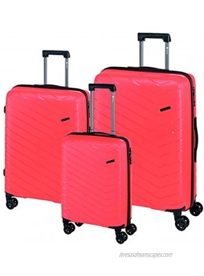 Check in Unisex Adult Hard Shell Trolley with Swivel Wheels Orange