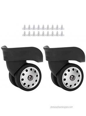 OUKENS Suitcase Wheels 1 Pair A88 Black Luggage Multi Hole Wheel Universal Suitcase Replacement Outdoor Supplies
