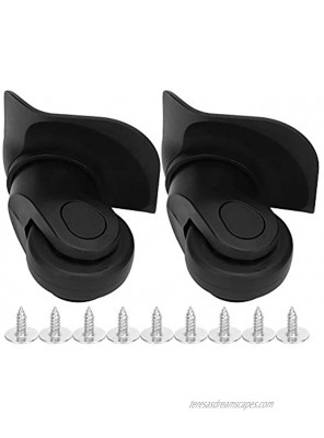 RiToEasysports 1 Pair Replacement Mute Luggage Wheels Suitcase Wheels for Suitcase Parts
