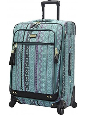 """Steve Madden Luggage Large 28"""" Expandable Softside Suitcase With Spinner Wheels 28in Legends Turquoise"""