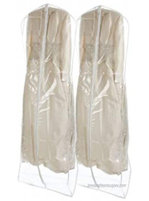 Bags for Less Bridal Wedding Gown Dress Garment Bag Clear 2 Pack