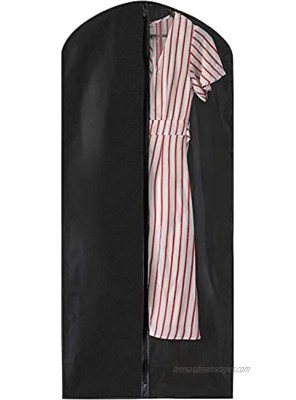 Black Garment Bag 55 Inch Suit Dress Cover for with with a Transparent Clear Panel for Easy Viewing