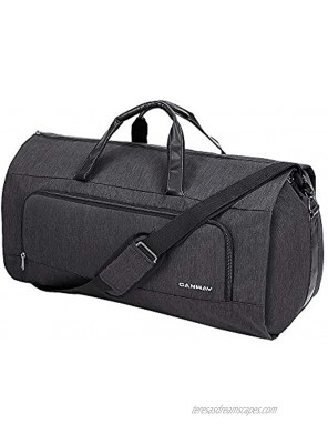 Carry on Garment Bag 60L Large Travel Duffel Bag with Shoes Compartment Convertible Suit Travel Bag Weekender Bag for Men Women