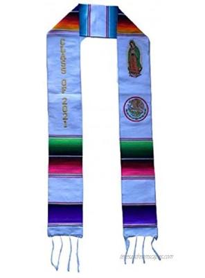Graduation Class of 2021 Sash garment tunic accessory Mexican sarape Sash 1 pc Virgen de Guadalupe Escudo Nacional