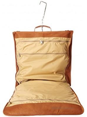 Piel Leather Tri-fold Garment Bag Saddle One Size