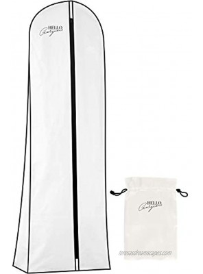 Premium Wedding Dress and Long Gown Garment Bag | Travel + Storage | 72 In 10 In Gusset Breathable