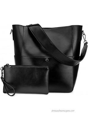 Bucket Bag Inner Zippered Pocket Soft Leather hobo purse for Women Wrist Wallet