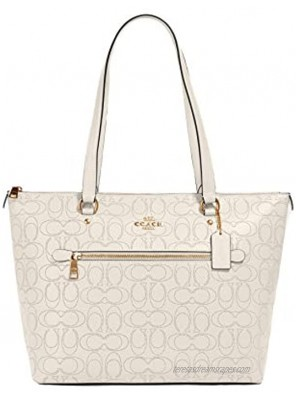 Coach Gallery Tote in Signature Leather #1499 Chalk