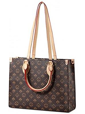 Handbags for Women WOQED Large Tote Purses Designer Shoulder Bags Top Handle Satchel Fashionable Leather Handbag