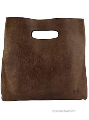 Hide & Drink Minimalist Handbag Handmade from Full Grain Leather and Sheepskin