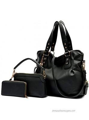 Purse and Wallet set for Women Large Hobo Bags Female Fashion Tote Shoulder Bags Crossbody Wallets Satchel Purse Set 3pcs