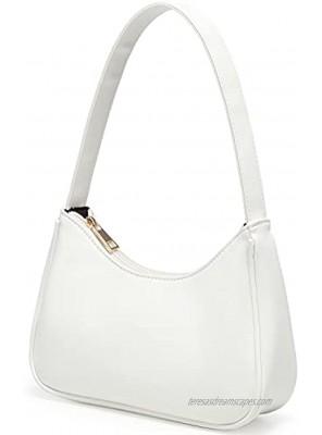 Shoulder Bags for Women Cute Hobo Tote Handbag Mini Clutch Purse with Zipper Closure