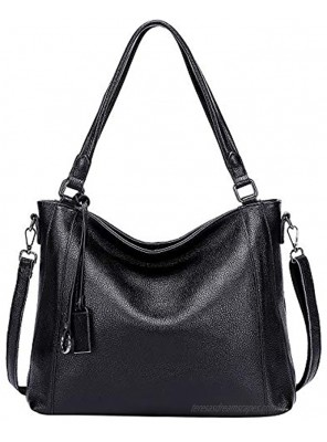 Soft Leather Handbags for Women Shoulder Hobo Bag Large Tote Crossbody Bag By OVER EARTH