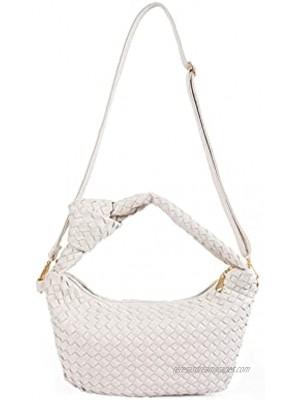 Women's Soft Faux Leather Tote Bag Top Handle Shoulder Bag Satchel Large Capacity Handbag X White