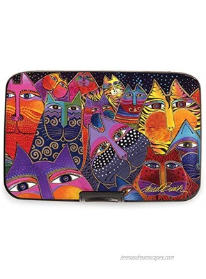 Fig Design Group Armored Wallet RFID Secure Data Theft Protection Credit Card Case Laurel Burch Fantasticats