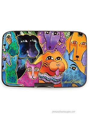 Fig Design Group Armored Wallet RFID Secure Data Theft Protection Credit Card Case Laurel Burch Dogs