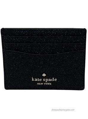 Kate Spade Boxed Small Slim Card Holder Lola Black Glitter