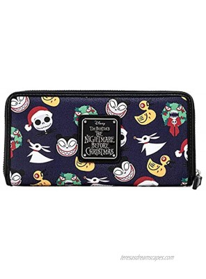 Loungefly Disney The Nightmare Before Christmas All Over Print Faux Leather Wallet