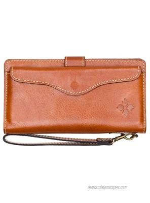 Patricia Nash Valentia Leather Wristlet Wallet Tan
