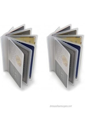 Set of 2 Clear Premium Quality Wallet Insert from AG Wallets Trifold 6 Page