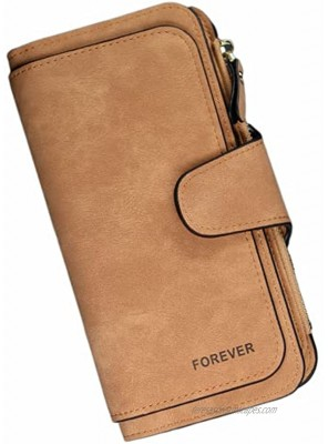 Wallet for Women Ladies Girls Large Capacity Wallets for Women Soft Leather Wallets Credit Card Holder Long Wallets Purse for WomenBrown Long