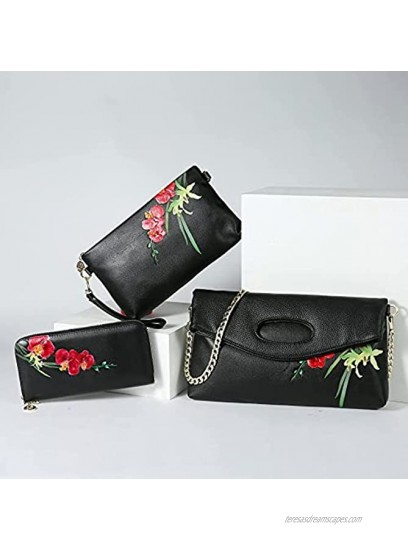 WILD WORLD Leather Wrist Wallet and Embossed Purse for Women Orchid-Red
